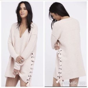 """Free People """"Heart It Laces"""" Sweater"""